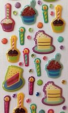 CAKE TIME EPOXY STICKER (66pc) Birthday Party•Decorations Baby Shower•Candles•