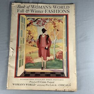 Vtg 1927 Pattern Catalog Woman's World Magazine Sewing