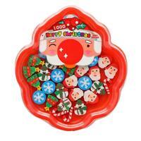 Christmas Mini eraser Students Rubber Plate Santa Claus Gift for children