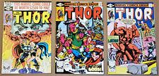 THOR #299, 301, 302 (Marvel 1980) High Grades