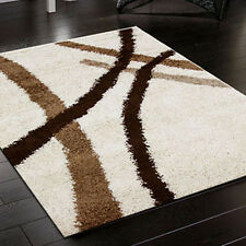New Notes 1 Ivory Shag Shaggy Floor Rug Carpet XXL SIZE 200X290cm Free Delivery