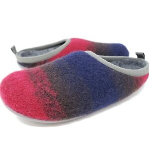 Camper Twins Women's Slippers Mules Sz 6 / 36 Red Black Blue Colorblock Shoes