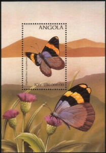 Angola 1998 MNH MS, Euphaedra neoprhron, Butterflies, Insects