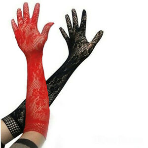 Harley Quinn Gloves - Red and Black - Cosplay DC Costume