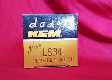 Headlight Switch Kemparts KEM LS34 AMC, Dodge