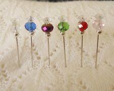 Decorative Pins - Crystal - Embelishment Red/silver Pink green blue lemon
