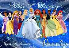 Disney Princesses A5 Personalised Birthday card Granddaughter sister niece name