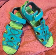 LL Bean Summer Sport Sandals Green and Turquoise Woman's Girl's Size 6