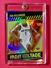 Zion Williamson HOLO REFRACTOR HIGH VOLTAGE SPECIAL INSERT PANINI NBA HOOPS Mint