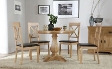 Cavendish Round Oak Dining Table and 4 Kendal Chairs Set