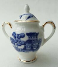 More details for coalport collectable miniature blue & white willow pattern 2 handled urn