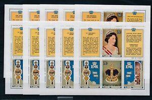 [G27978] Cook Islands 1978 coronation 5x good set of 2 sheets very fine MNH