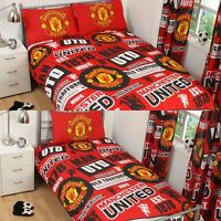 NEW MANCHESTER UNITED SINGLE OR DOUBLE DUVET QUILT COVER SET BED - YOU CHOOSE