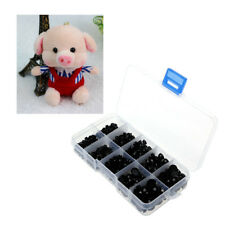 760Pcs 4-10mm Black Plastic Safety Eyes For Teddy Bear Doll Animal Puppet Craft