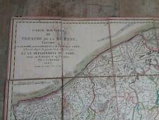 Carte toilée 1806/Theatre de la Guerre Napoleon 1er/BRABANT NAMUR FLANDRES NORD