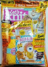 Let's Knit UK Issue 120 July 2017 Fluffy Eyelash Yarn Patterns FREE SHIPPING sb