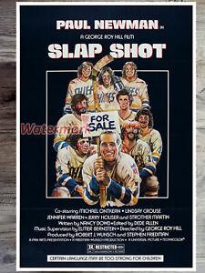 1977 Slap Shot Movie Poster REPRINT Color 12 X 18 or 24 X 36 Print Poster