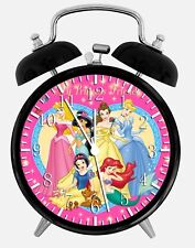 "Disney Princess Alarm Desk Clock 3.75"" Home or Office Decor W70 Nice For Gift"