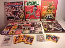 Vintage Reggie Jackson MLB Baseball 6 Magazines 24Trading Cards LOT Yankees A's