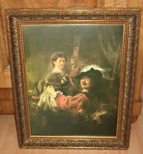 Gemälde im Holzrahmen aus Nachlassauflösung - Öl auf Leinwand 50 x 60 cm