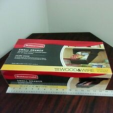 "Rubbermaid Drawer for Under 16"" Wire or Wood Shelf, Small, Black 1780725 NIB"