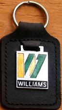 Williams Keyring Key Ring - badge mounted on a leather fob