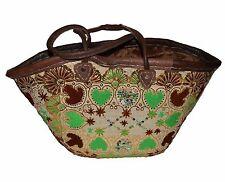 Moroccan Straw Beach Bag Handmade Woven Fashion Beach Basket Shopper Bag Large