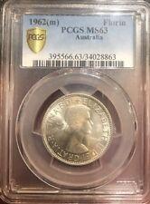 1962 Australian Florin Coin PCGS Ms 63