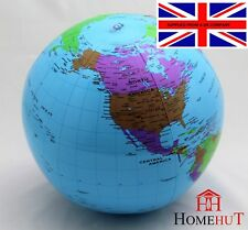 INFLATABLE 80 CM  GLOBE ATLAS WORLD MAP EARTH BLOW UP  EDUCATIONAL LEARN
