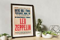 Led Zeppelin vintage Gig Poster, Artwork, Led Zeppelin Print