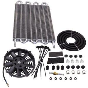 """Universal Zusatz 15-1 / 2 """"Kühler Getriebeölkühler Set & 7"""" Lüfter Kit"""