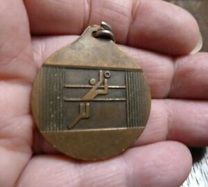 Vintage Montreal Olympics Medal Charm Pendant Volleyball 1976 Sports Fathers Day