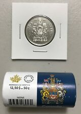 CANADA 2018 New 50 cents Coat of Arms of CANADA (UNC directly from mint roll)