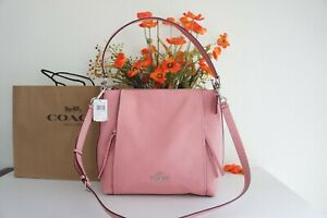 NWT COACH 79994 Marlon Hobo Shoulder Crossbody Bag Pebble Leather Blush $428