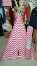 Teepee tent for kids, girls, pink and white