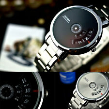 Stylish Creative Stainless Steel Men's Military Sport Analog Quartz Wrist Watch