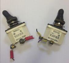 QTY2 LOT Safran Electrical 8530K11 SPST 10A 115V Toggle Switch