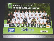 BORUSSIA MÖNCHENGLADBACH BUNDESLIGA 1998-199 FUSSBALL FOOTBALL CPA