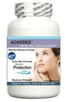 Acne Pills Clear Skin Complexion Spots Scars Treatment Cleanser Detox 60 Tablets