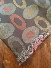 "Upholstery Fabric Terra Cotta Brown Oval Geo Poly 4.5 Yards 60"" Wide"