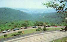 nr UNIONTOWN PA Point Lookout 1950s Cars e postcard