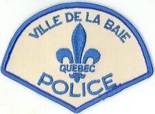 Ville de la Baie Police Quebec, Canada HTF Vintage Uniform/Shoulder Patch