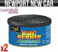 2 Pack California Scents Newport New Car & Home Organic Scent Air freshener Can