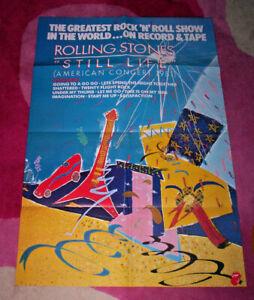 ROLLING STONES ~ STILL LIFE. Orig 1982 promo poster. 50x76cms. EX.