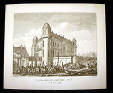 Pistole portato da Chantilly a Paris Rivoluzione francese Preventiva Berthault