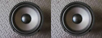 "NEW(2) 6.5"" Woofer Speakers.4ohm.6-1/2"" MTM replacement.mids.Car Home Audio.PAIR"