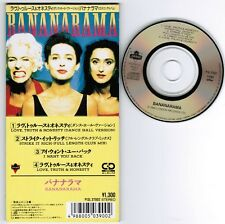 "BANANARAMA Love,Truth&Honesty(Dancehall) JAPAN 4-track 3""CD P13L-37002 UNSNAPPED"