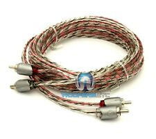 MEMPHIS ETP-12 12 FEET FT. 2 CHANNEL TWISTED AUDIO RCA JACK AMPLIFIER CABLE WIRE