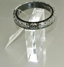 Chanel Black Resin Cuff CC Bijoux Chain Bangle Bracelet NEW
