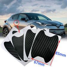 3D Carbon Fiber Black Decal Exterior Door Handle Film Cover Sticker Vinyl Tls J